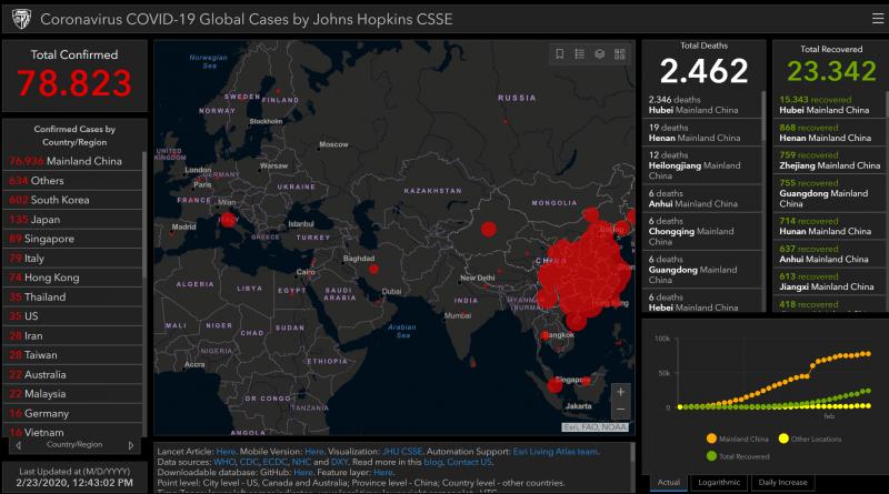 Coronavirus: salgono a 135 i  positivi tutti in 5 regioni. Mappa dell'infezione in tempo reale