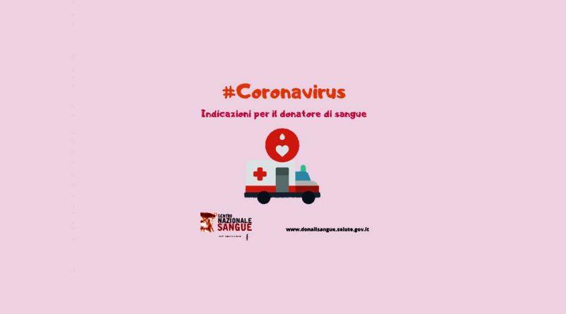 Coronavirus, stop alle donazioni di sangue per chi è stato nelle zone colpite
