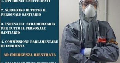 Coronavirus, la protesta simbolica dei professionisti sanitari: un minuto a braccia conserte il 9 aprile.