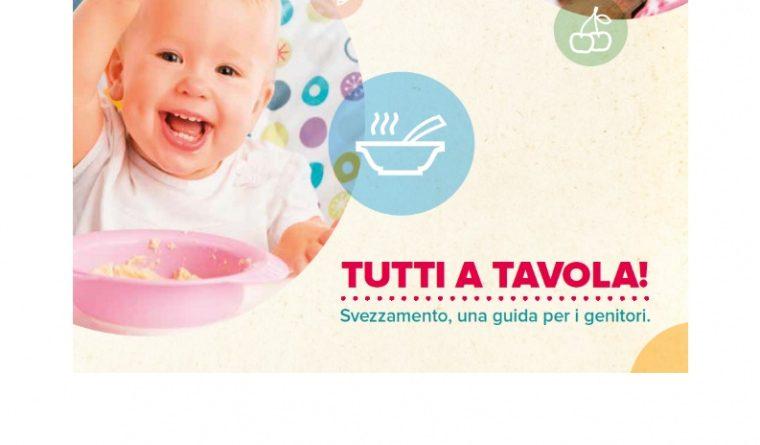 """""""Disponibile e scaricabile sul sito dell'Ausl Romagna """"Tutti a tavola!"""" una guida allo svezzamento per genitori"""""""