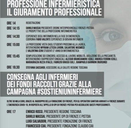 #sostieniuninfermiere: domani la consegna dei fondi della campagna e il giuramento dei nuovi infermieri