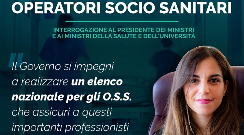 """Stefania Mammì (M5S): """"Governo si impegni per la nascità di un elenco regionale degli oss"""""""