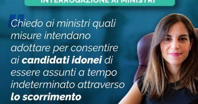 Stefania Mammì (M5S),scorrimento graduatorie: presentata interrogazione ai Ministri