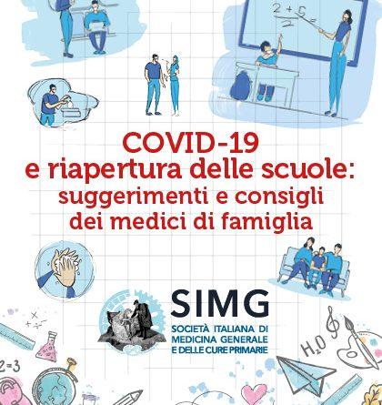 SIMG – Riapertura delle scuole: ecco il documento per studenti e genitori con i suggerimenti e i consigli dei Medici di famiglia. Apprezzamento all'iniziativa dai Ministri Speranza e Azzolina