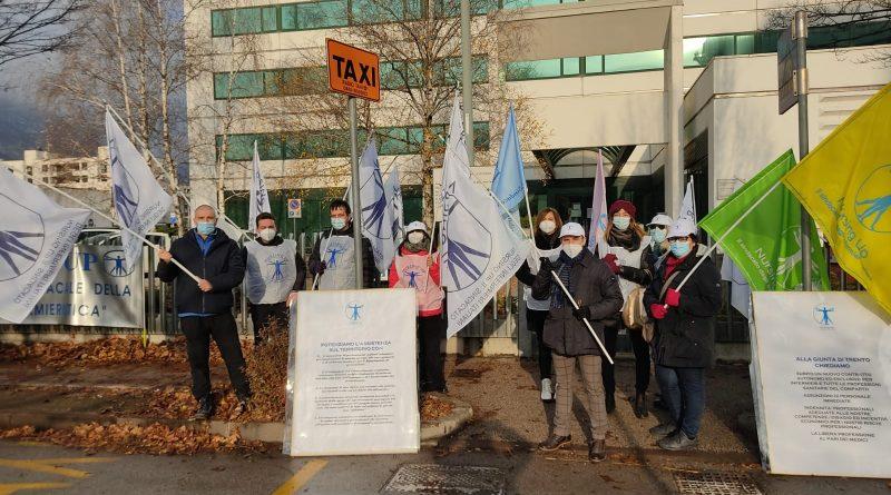 Presidio di protesta a Trento: Nursing Up incontra l'assessora Segnana