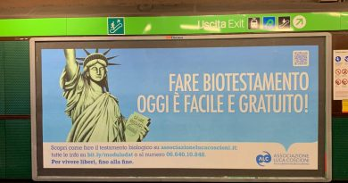 Fine vita, associazione Luca Coscioni lancia campagna informativa sul testamento biologico in tutta Italia 1