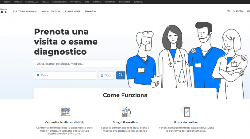 Nasce PAGINE BIANCHE SALUTE, per la prenotazione online di visite ed esami diagnostici presso i migliori ospedali 1