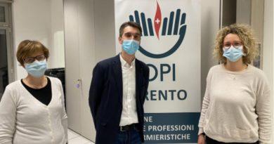 Pedrotti rieletto Presidente dell'Ordine degli Infermieri della Provincia di Trento per il quadriennio 2021-2024