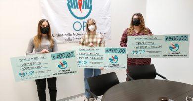 Opi Rovigo: Giorgia Pellegrini, Valentina Crivellari e Sofia Belluco si aggiudicano i premi per le migliori tesi infermieristiche.