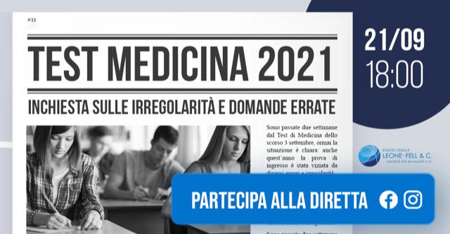 Test Medicina 2021: Inchiesta su irregolarità e domande errate